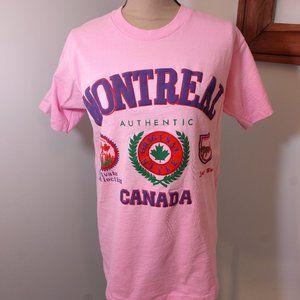Vintage Montreal Canada Pink Shirt Medium